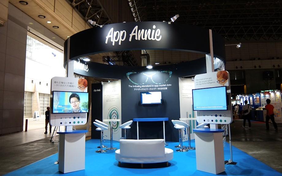 App Annie stand built for Tokyo Game Show by Idea International