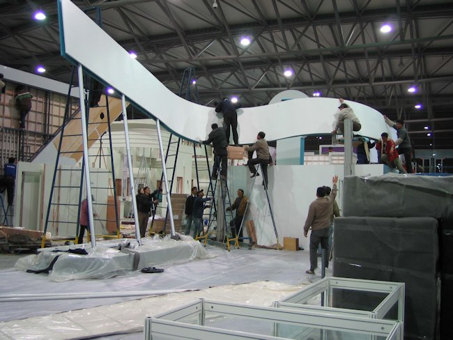 Trade Show Booth Builders : Trade show exhibit construction progression