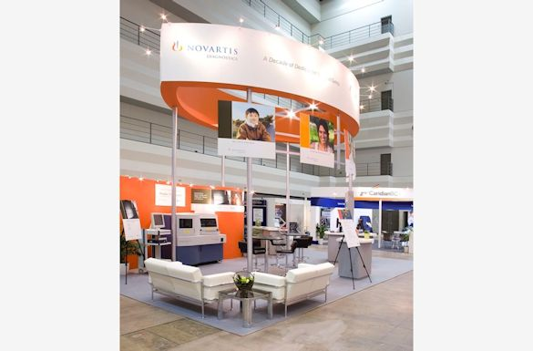 Novartis Diagnostics Exhibit by Idea International, Inc.