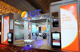 IGT exhibit stand at World Lottery Summit 2016 produced by Idea International